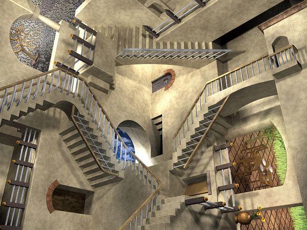 M C Escher 1953 Relativity