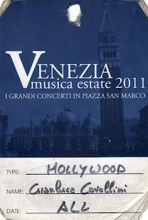 Pass James Taylor Piazza San Marco 2011