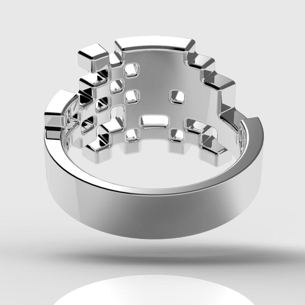 Space Engagement Ring Sweat Design Shank