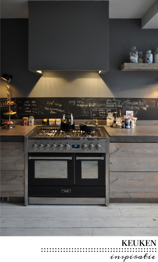 Stoere Lampen Keuken : Chalkboard Backsplash Kitchen