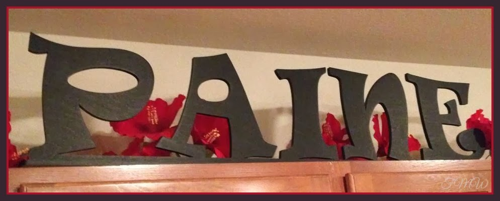 Frugal mom and wife craft cuts stand alone painted wood for Standing wood letters to paint