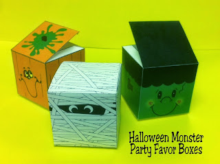 Halloween Printable Party Favor Boxes by Kims Kandy Kreations