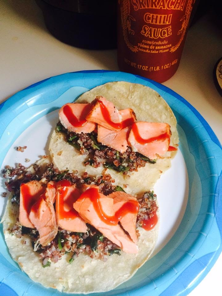 clean eating, salmon tacos, fish tacos, quick healthy dinner