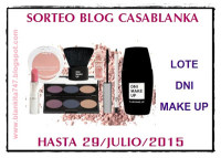 Sorteo DNI Makeup Blog Casablanca