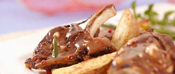 Chuletas De Cordero En Salsa BBQ