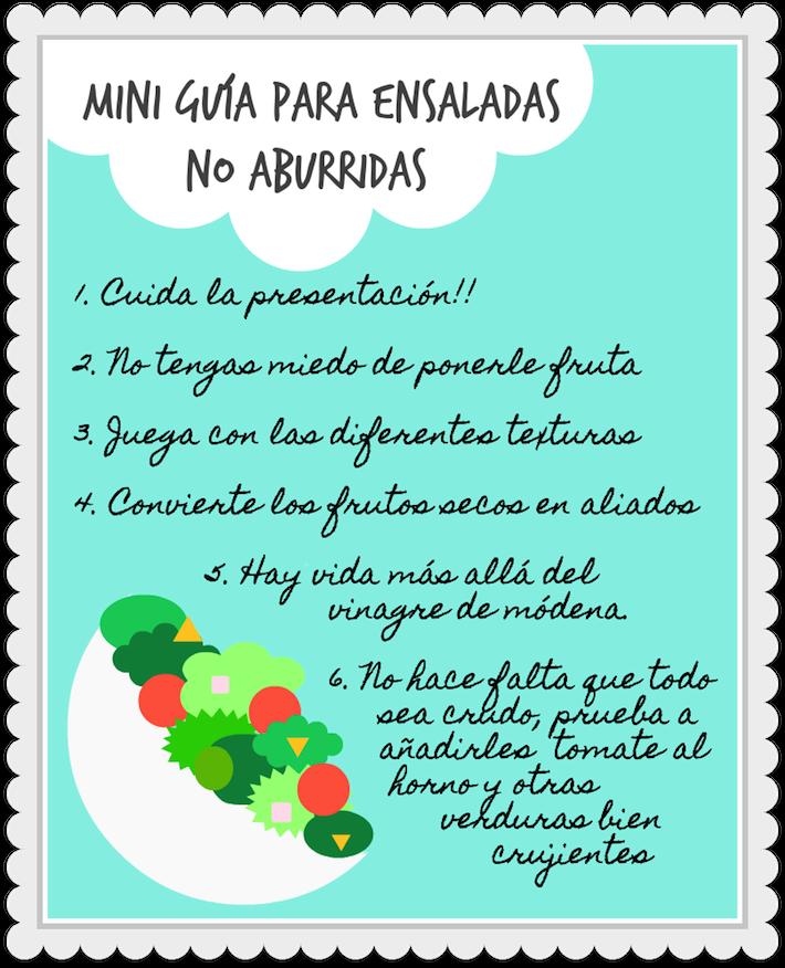 mini guía para ensaladas no aburridas