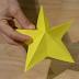 Origami vianočná hviezda