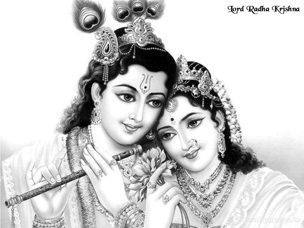radha krishna black and white hd wallpaper pics
