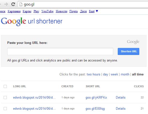 Инструменты рекрутера: короткие ссылки Google