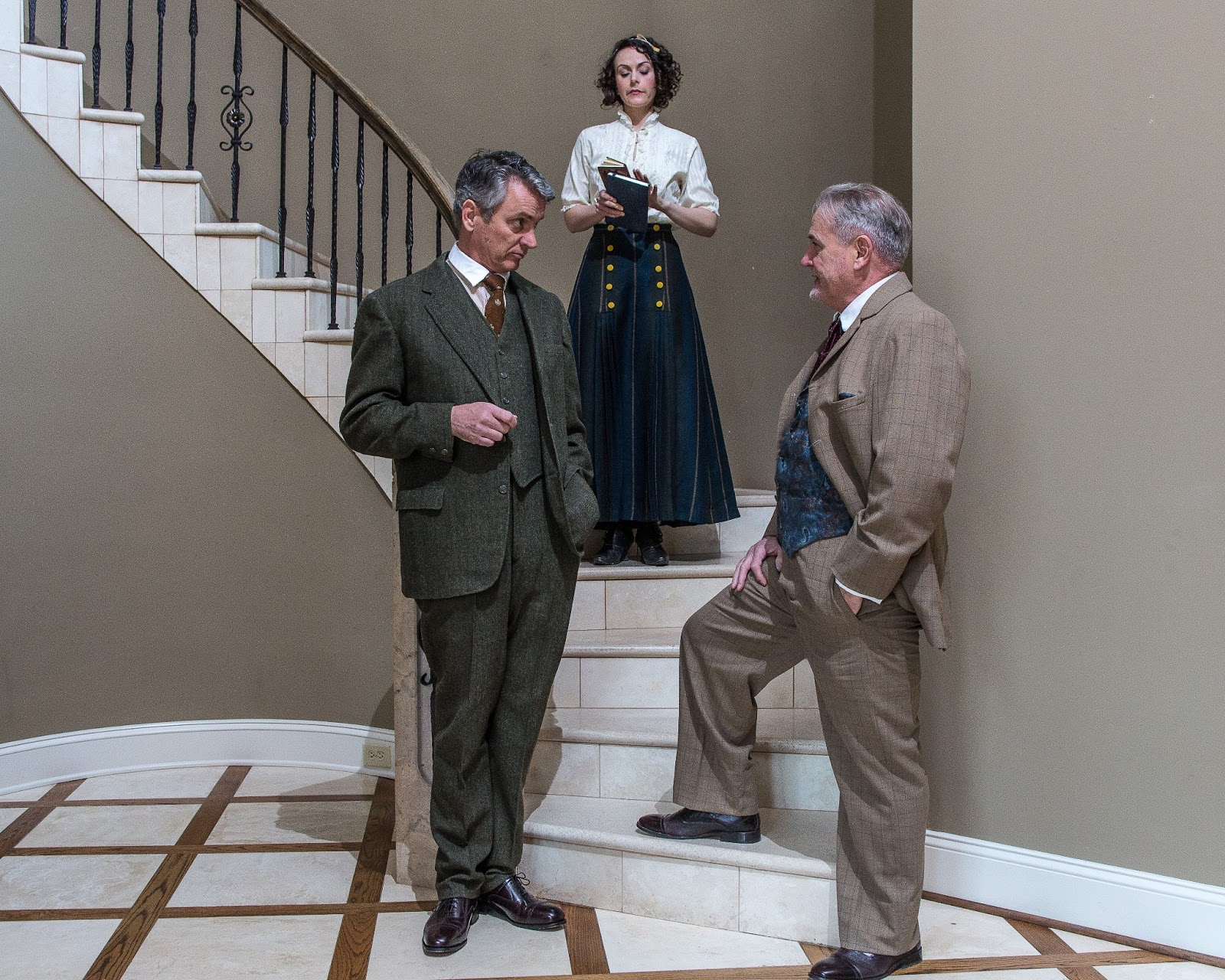 the discussion between higgins pickering and eliza doolittle From left, leischen moore as eliza doolittle, gary chambers as col hugh  pickering and jonathan bill as henry higgins in the tacoma musical.