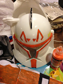 fabric paint plus some crafting turns last year's Halloween costume into awesome new costume