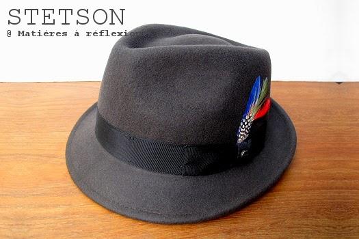 Chapeau Stetson homme petit bord en feutre taupe