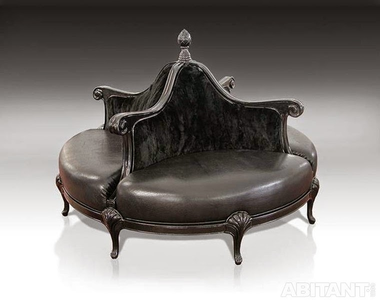 classic black leather sofa for luxury interior, round sectional sofa,round sofas
