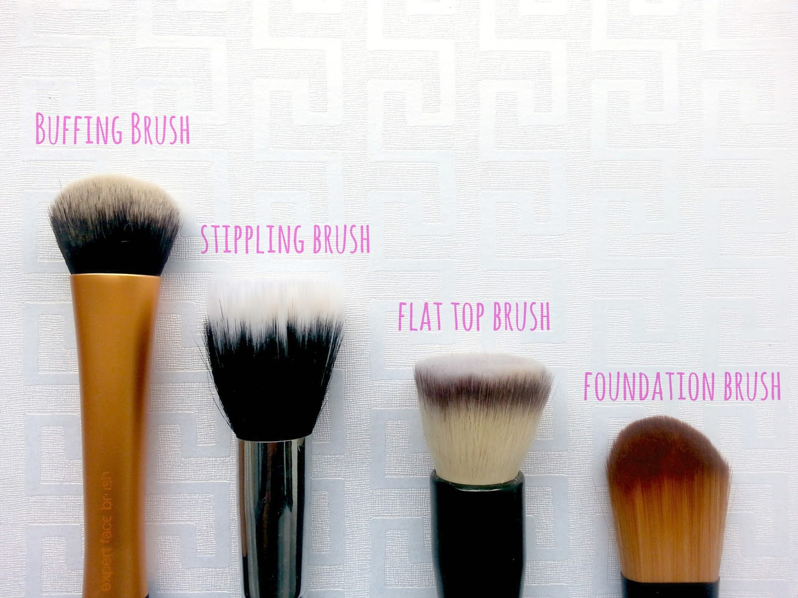 Beauty basic 4 types of foundation brushes a chick with for Different foundations
