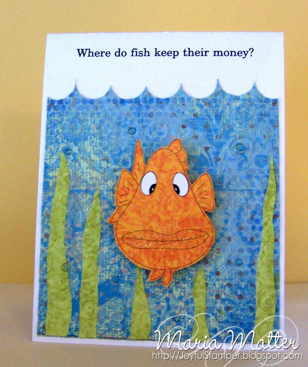 joyful stamper 3 31 where do fish keep their money