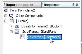 Seleccionamos el jTextArea desde el inspector