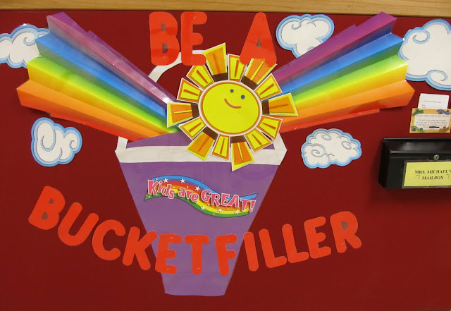 photo of: Bulletin Board for Being a Bucket Filler