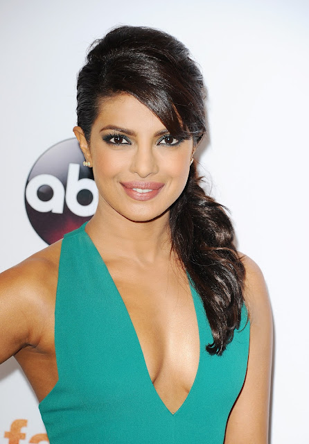 Priyanka Chopra Hot Legs and Cleavage Show At Disney ABC Television Group's 2015