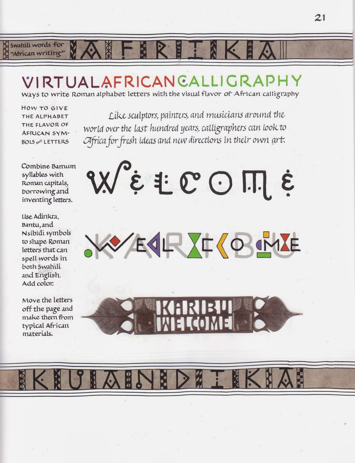 Margaret shepherd calligraphy blog africa alphabet three approaches while africa offers us many interesting systems for recording the sound or the meaning of words you can use what youve learned to invent your own virtual biocorpaavc