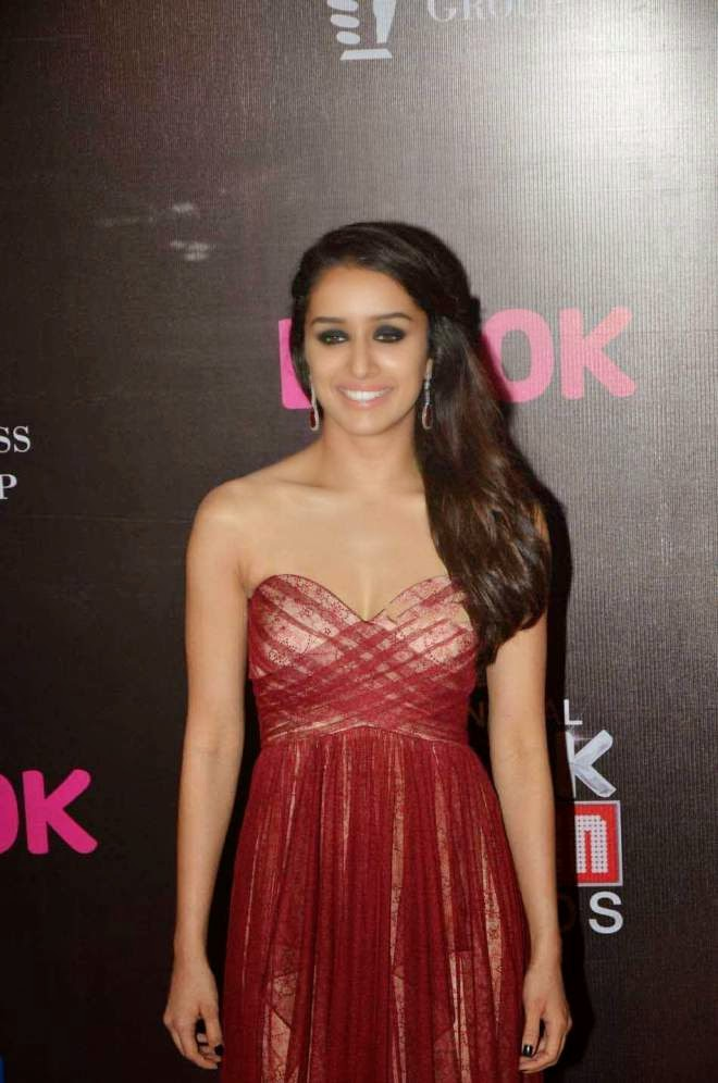 Shraddha Kapoor Red Off The Shoulder Dress Photo