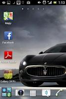 Nawigacja z niebieską strzałką, nowa ikona na pulpicie Android
