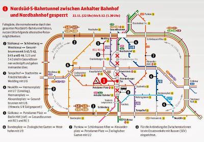 S-Bahn: Neue Gleise für kurvenreiche Tunnelstrecke ab 22.11., 16 Tage keine S-Bahn zwischen Anhalter Bahnhof und Nordbahnhof