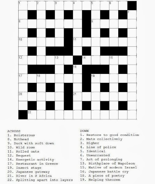Printable Crosswords and Word Searches