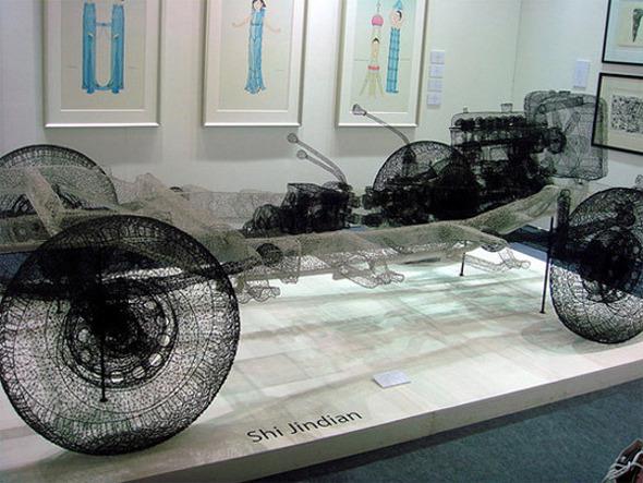 esculturas alambre