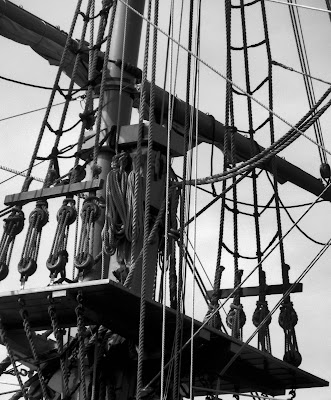 Photo of a ship mast by Nancy Zavada