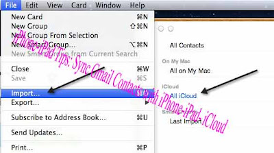 iPhone-iPad Tips: Sync Gmail Contacts with iPhone-iPad- iCloud