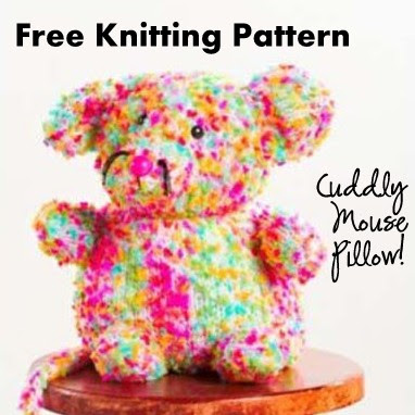 Mouse Pillow Free Knitting Pattern