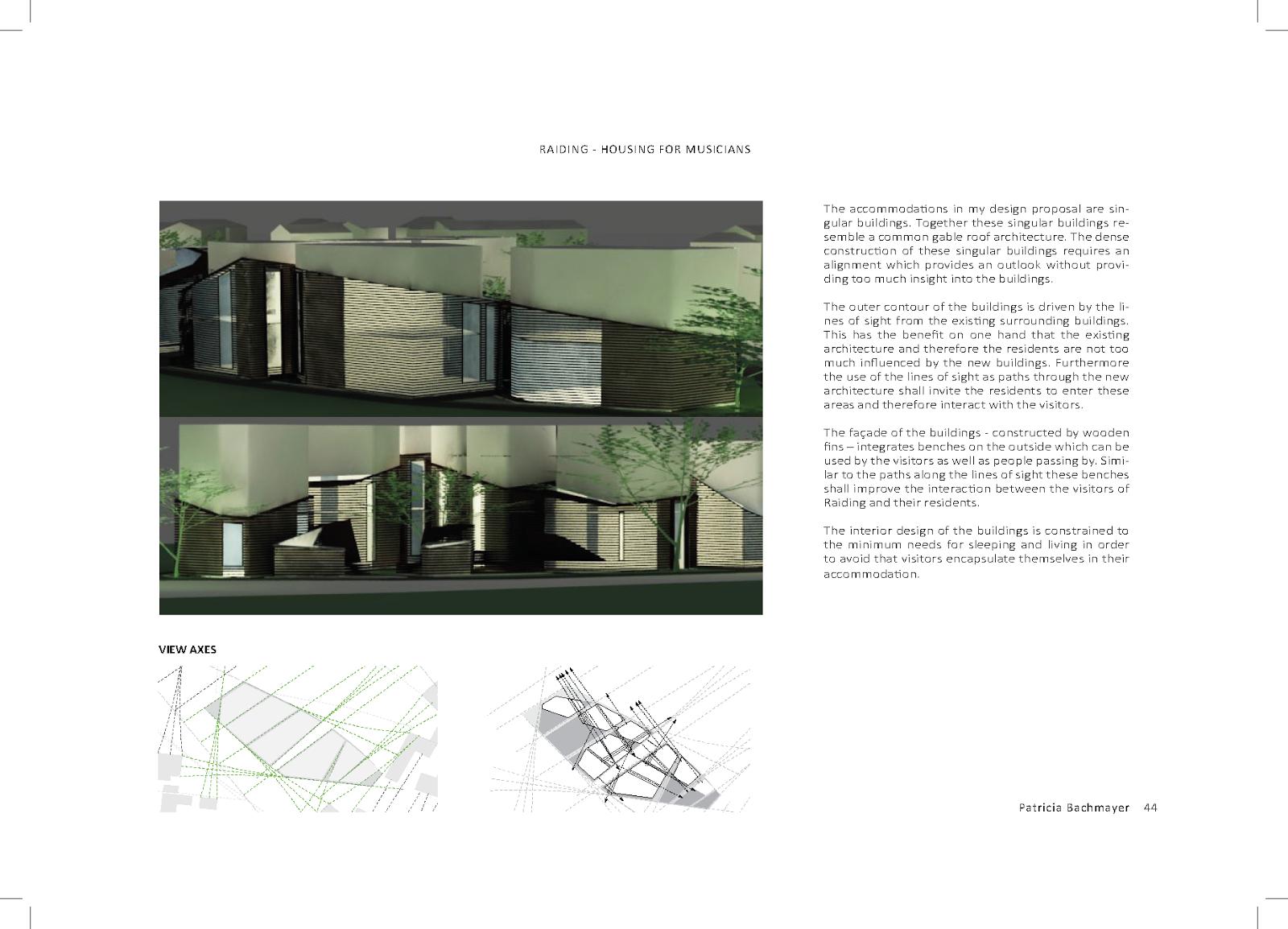 PORTFOLIO ARCHITECTURE | pat [ricia] bac [hmayer] architecture and ...