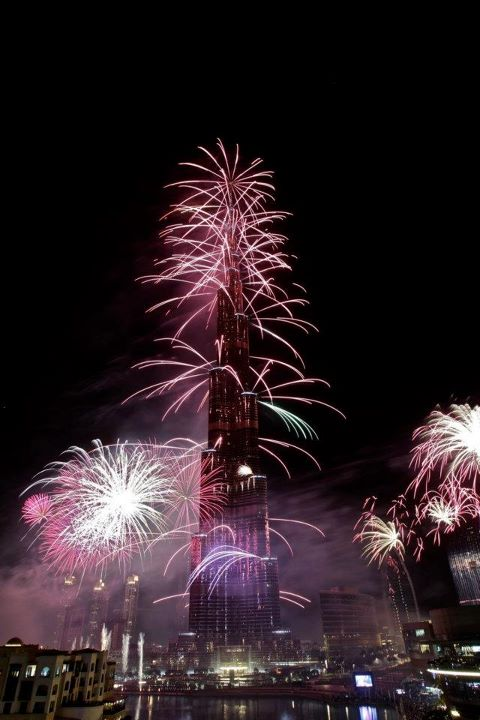 Burj Khalifa New Year's Eve Fire Works