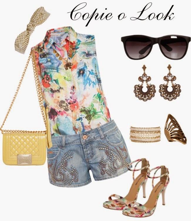 Moda feminina +Short Jeans Colcci  + Colar Elefante + Bracelete correntes e pérolas + HEADBAND +Óculos Eighties preto +Sandália Anna Flynn Branca