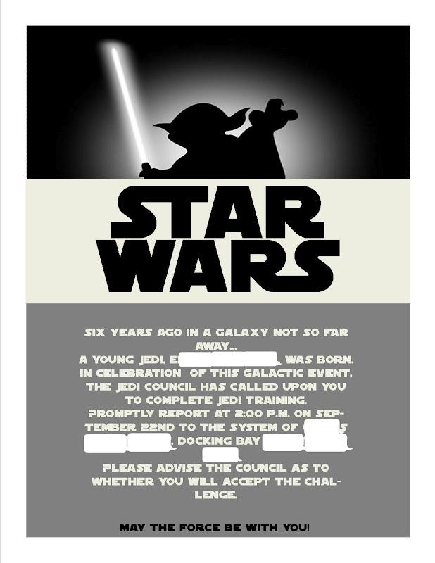Fussy Monkey Business: Star Wars Birthday Party
