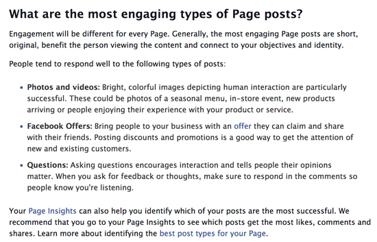 Facebook: What are the most engaging types of Page posts?