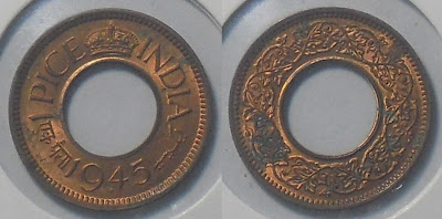 1945 1 pice george vi flat crown