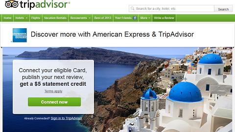 Page American Express de TripAdvisor