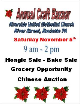 11-5 Annual Craft Bazaar Roulette