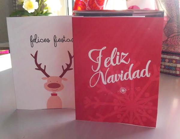 Manualidades tarjetas de navidad para imprimir en casa - Tarjeta de navidad manualidades ...