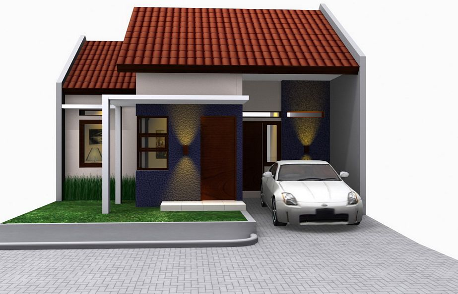 contoh rumah type 45 modern kreatif