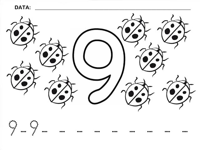 Dibujos de numeros para imprimir y colorear | Colorear a Heidi
