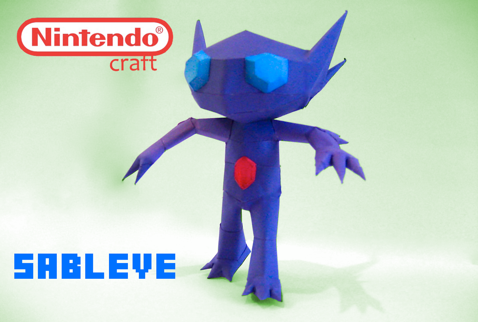 Pokemon Sableye Papercraft