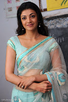 kajal agarwal exposing cute deep navel in transparent saree from mr perfect telugu movie