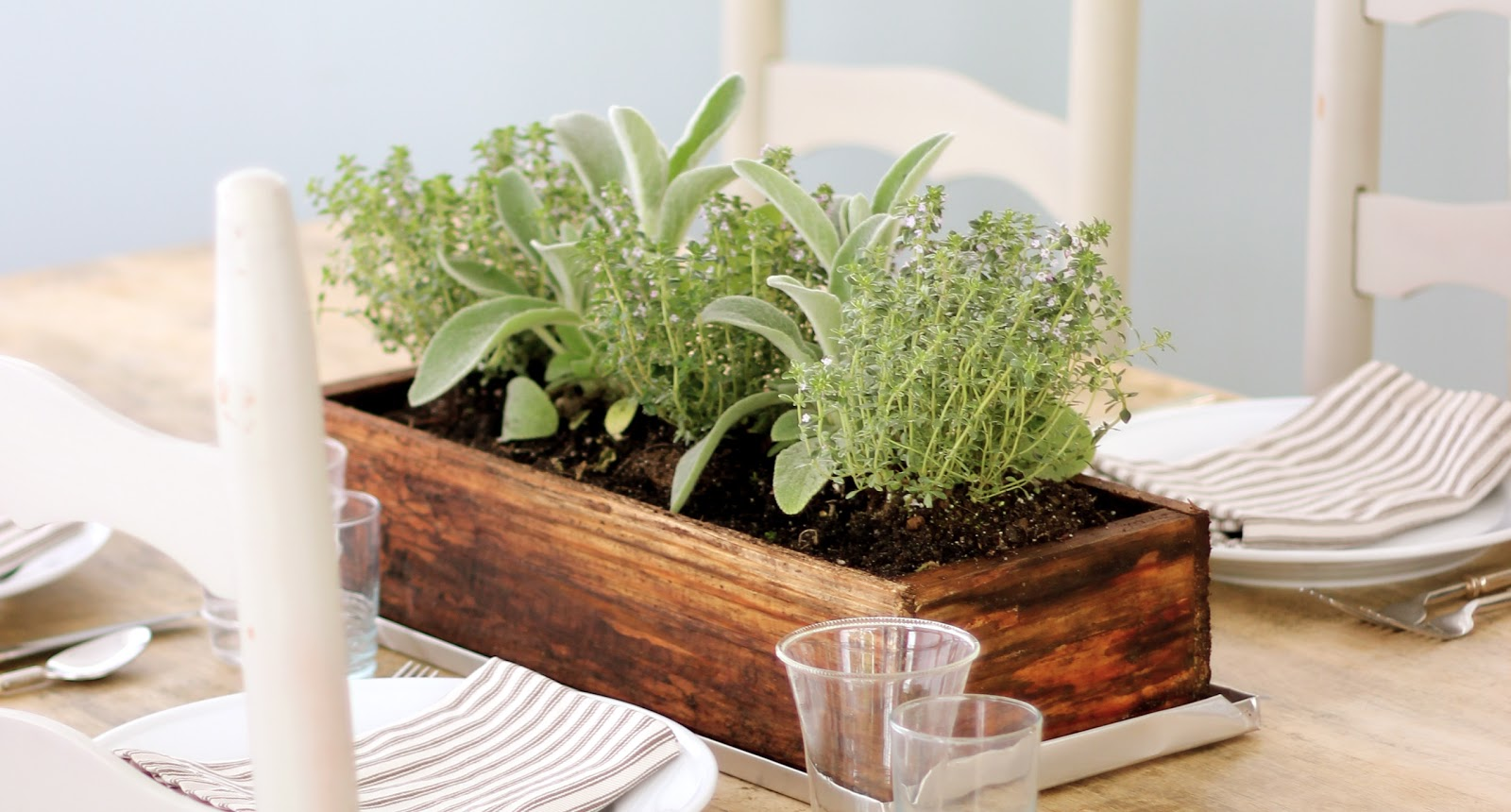 Jenny steffens hobick easy summer centerpiece planted herbs