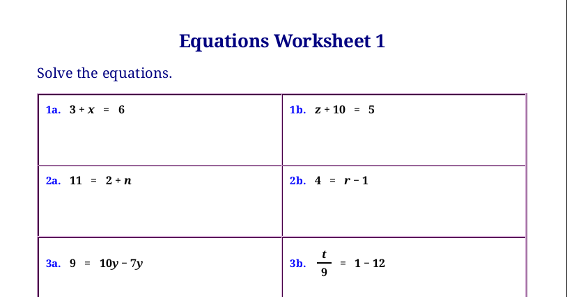 Homeschool Math Blog: Free worksheets for linear equations ...
