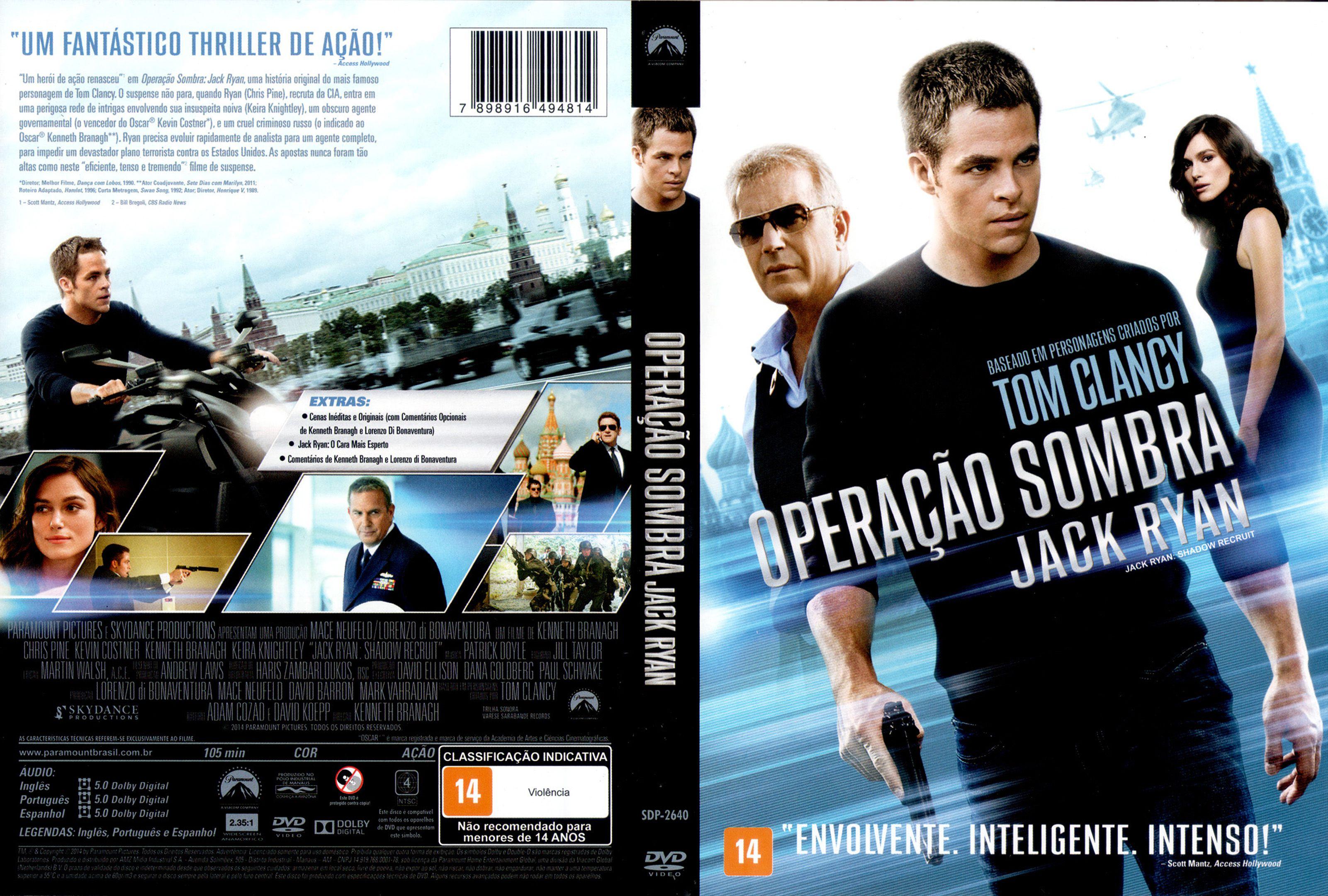 Capa DVD Operação Sombra Jack Ryan