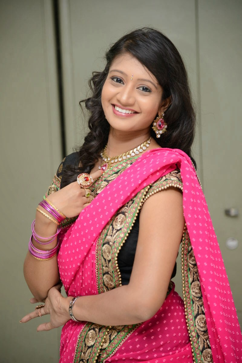 Sandeepthi Gorgeous in Designer Saree-HQ-Photo-6