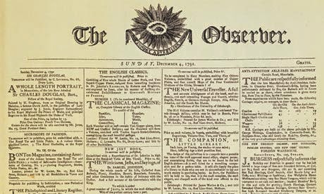 First edition of The Observer