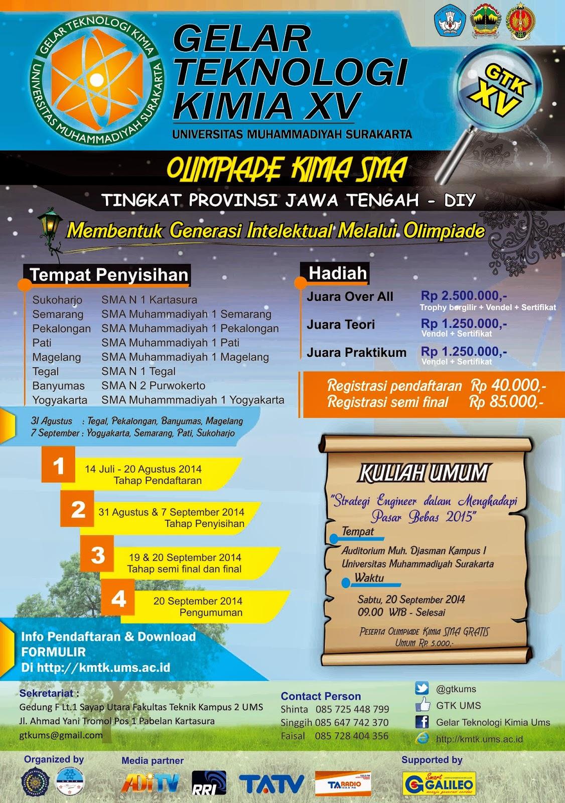 Pamflet Olimpiade Kimia